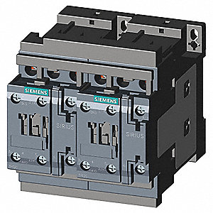 IEC Magnetic Contactor, 24VDC Coil Volts, 38 Full Load Amps-Inductive, 2NC/2NO Auxiliary Contact For