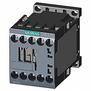 120VAC IEC Magnetic Contactor; No. of Poles 4, Reversing: No, 12 Full Load Amps-Inductive