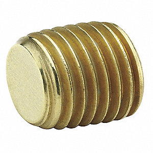 Counter Sunk Plug,Brass,3/4 In.,Pipe