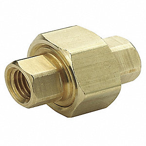 "Brass Union, FNPT, 1/4"" Pipe Size - Pipe Fitting"