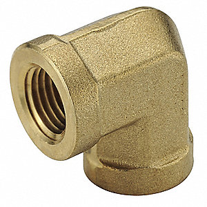"Brass Forged Union Elbow, 90°, FNPT, 3/8"" Pipe Size,  1 EA"