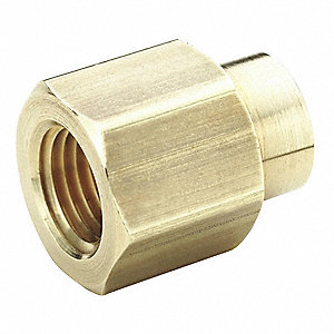 Reducng Coupling,Brass,3/8 In. x 1/4 In.