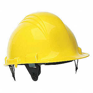 HAT HARD 6PT RATCHET YELLOW