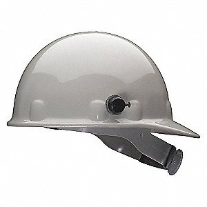 HARD HAT W/3R AND QUICK LOCK GRAY