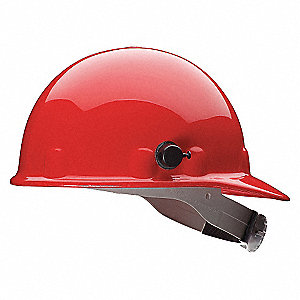 HARD HAT W/3R AND QUICK LOCK RED
