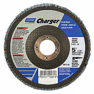 "FLAP DISC,CHARGER,G60  5X7/8"",T29"
