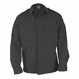 Long Sleeve Shirt, Black, XL Reg