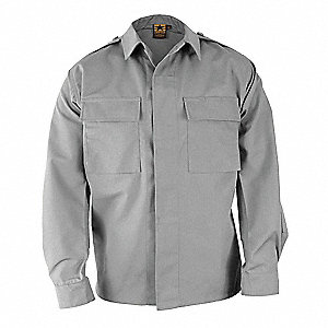 Long Sleeve Shirt, Gray, S Reg