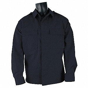 Long Sleeve Shirt,Dark Navy,4XL Reg