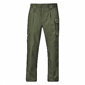 "Men's Tactical Pants, Fits Waist Size: 32"", Inseam: 36"", Olive"