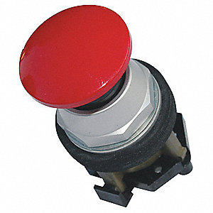 Metal Push Button Operator, Type of Operator: 40mm Mushroom Head, Size: 30mm, Action: Momentary Push