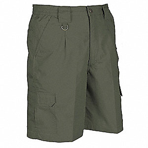 Mens Tactical Shorts,Olive,Size 42