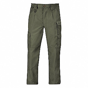 "Men's Tactical Pants, Fits Waist Size: 56"", Inseam: 37-1/2"", Olive"
