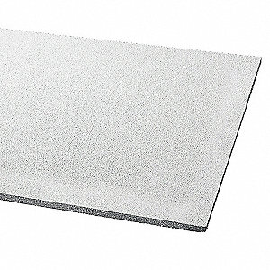 "Ceiling Tile, 24"" Width, 24"" Length, 3/4"" Thickness, Mineral Fiber"
