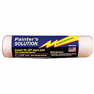 Paint Roller Cover,9 In,Nap 3/8 In