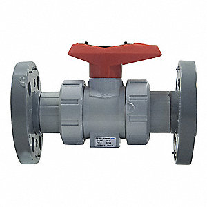 CPVC Ball Valve,True Union,Flanged,4""