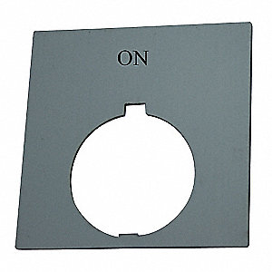 30mm Round On Legend Plate, Plastic, Black