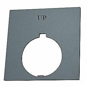 30mm Round Up Legend Plate, Plastic, Black