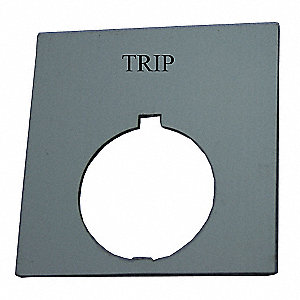 30mm Round Trip Legend Plate, Plastic, Black