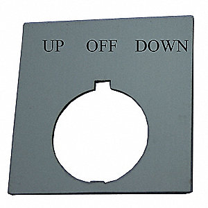 Legend Plate,Square,Up Off Down,Black