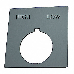 30mm Round High-Low Legend Plate, Plastic, Black