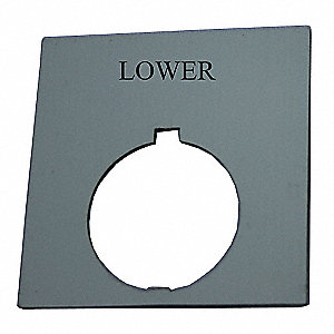 Legend Plate,Square,Lower,Black