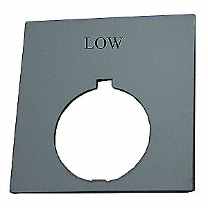 30mm Round Low Legend Plate, Plastic, Black