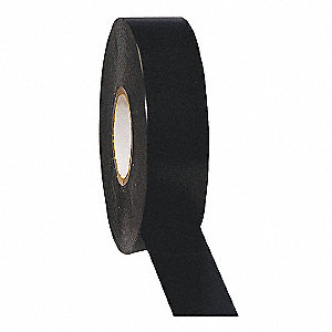 "Black Flame Retardant Vinyl Electrical Tape, 3/4"" Width, 66 ft. Length, 7 mil Thickness"