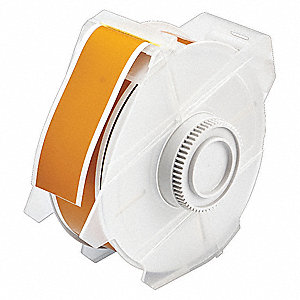 "Yellow/Brown Polyester Label Tape Cartridge, Indoor/Outdoor Label Type, 100 ft. Length, 1-1/8"" Width"
