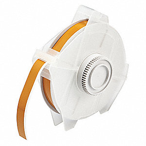 "Indoor/Outdoor Polyester Label Tape Cartridge, Yellow/Brown, 1/2""W x 100 ft."