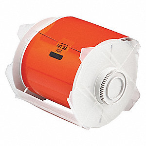 "Orange Polyester Label Tape Cartridge, Outdoor Label Type, 50 ft. Length, 4"" Width"