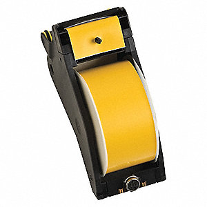 "Black/Yellow Polyester Label Tape Cartridge, Indoor/Outdoor Label Type, 110 ft. Length, 2-1/4"" Width"