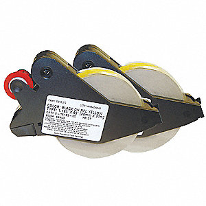 "Indoor/Outdoor Polyester Label Tape Cartridge, Black/Yellow, 1-1/8""W x 69 ft."