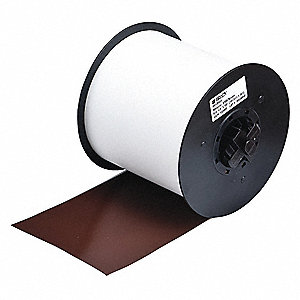 "Indoor/Outdoor Vinyl Film Label Tape Cartridge, Brown, 4""W x 100 ft."