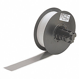 "Indoor/Outdoor Vinyl Film Label Tape Cartridge, Gray, 1-1/8""W x 100 ft."