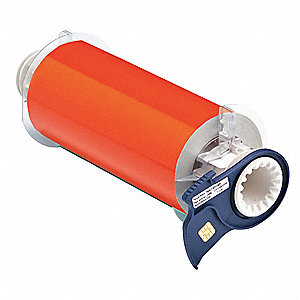 Reflective Orange Phosphorescent Label Tape Cartridge, Indoor/Outdoor Label Type, 33 ft. Length, 7""