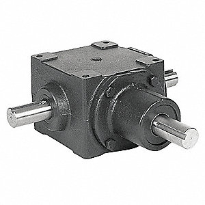 Standard Rugged Cast Iron Bevel Gear Drive, Single Output, 665 lb. Overhung Load