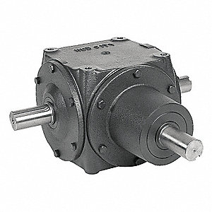 Standard Rugged Ductile Iron Bevel Gear Drive, Single Output, 690 lb. Overhung Load