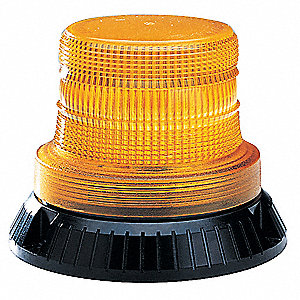 Compact Strobe Light,Amber,Rotating