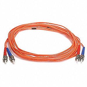 FIBER OPTIC PATCH CABLE, ST/ST, 5M