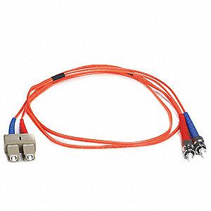FIBER OPTIC PATCH CABLE, ST/SC, 1M