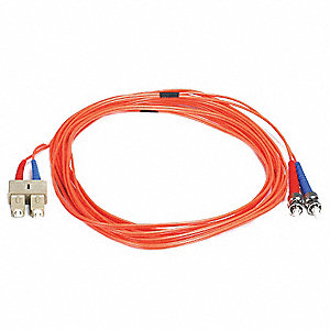 FIBER OPTIC PATCH CABLE, ST/SC, 5M