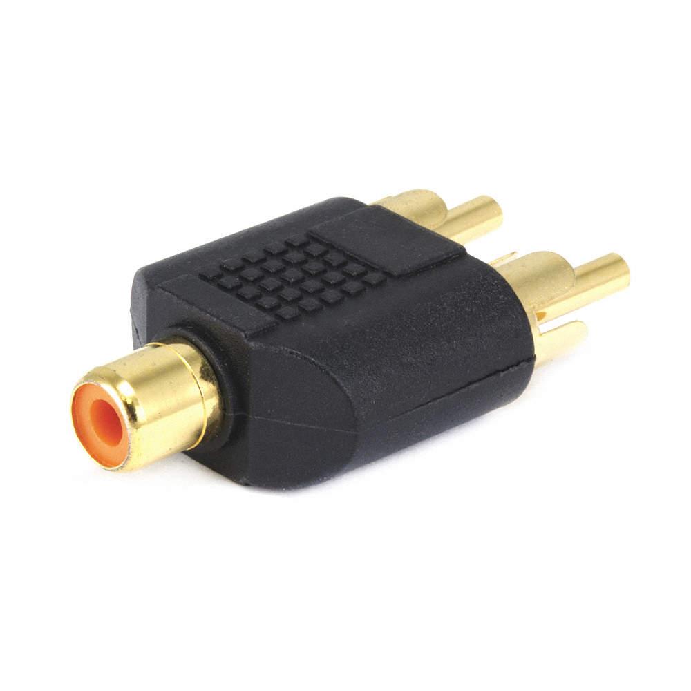 MONOPRICE 3-Port RCA Audio Splitter, Black - 14C296|7187 - Grainger