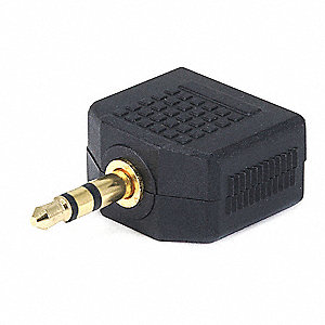 3-Port 3.5mm Audio Audio Splitter, Black