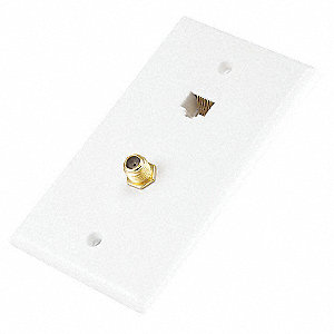 CAT5E/ F TYPE WALL PLATE, COUPLER