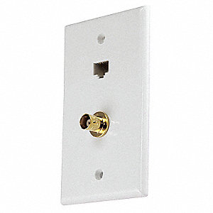 White Audio/Video Wall Plate