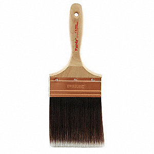 "4"" Flat Sash Polyester/Nylon Paint Brush, Firm, for All Paint & Coatings, 1 EA"