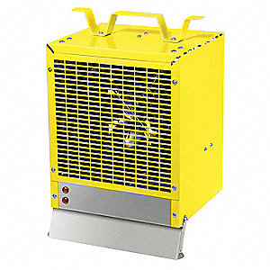 "9-1/8"" x 7-1/4"" x 11"" Fan Forced Non-Oscillating Electric Space Heater, Yellow"