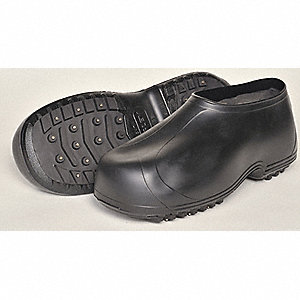 Men's Ice Traction Overshoes, Plain Toe Type, Black, Size 3XL