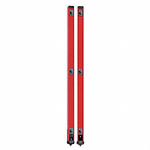 Red Light Curtain, 229.7 ft. Max. Sensing Distance, 24VDC Input Voltage